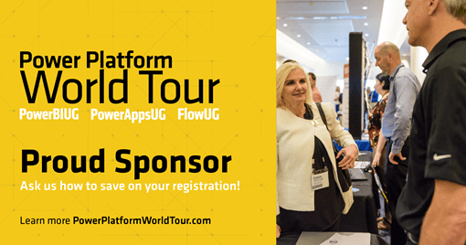 Power Platform World Tour Sponsor