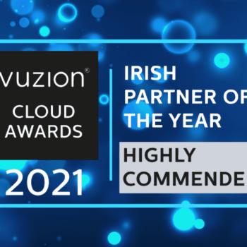 An image of the Vuzion Cloud Awards logo