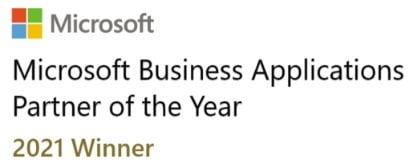 An image showing the Tekenable award for microsoft business application partner of the year 2021